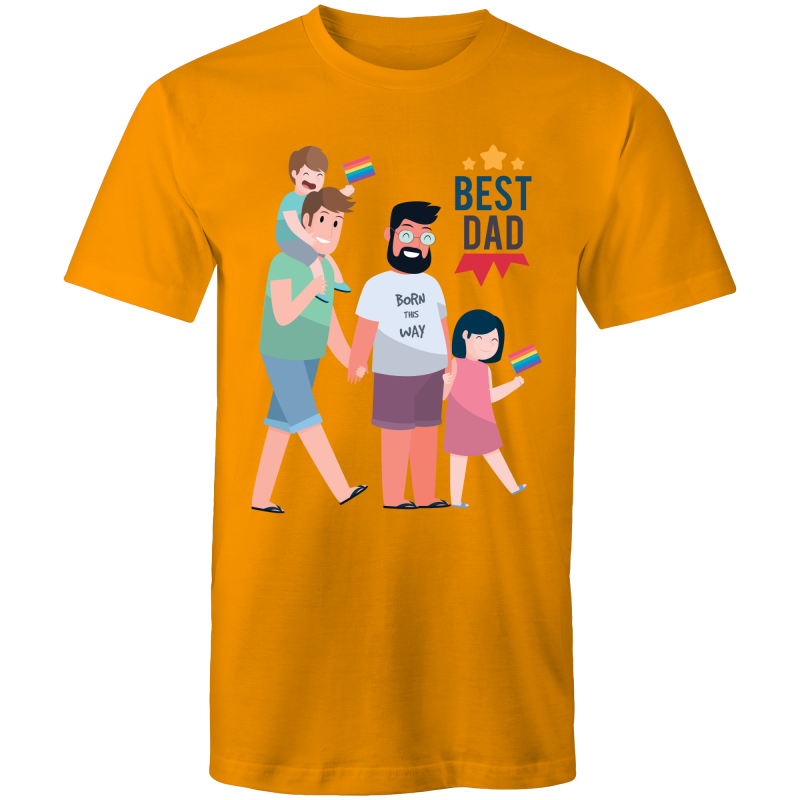 Gay T-Shirt | Father's Day #BestDadEver Unisex - RainbowRoo