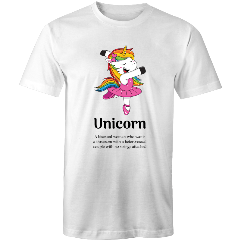 Lesbian T-Shirt | Dicktionary Unicorn Female - RainbowRoo