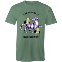 Non-Binary T-Shirt | The Future is Non-Binary Tiger Unisex - RainbowRoo