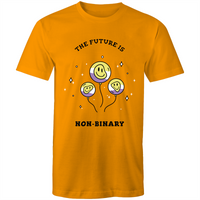 Non-Binary T-Shirt | The Future is Non-Binary Balloons Unisex - RainbowRoo