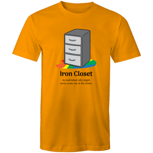 LGBT T-Shirt | Dicktionary Iron Closet Unisex - RainbowRoo