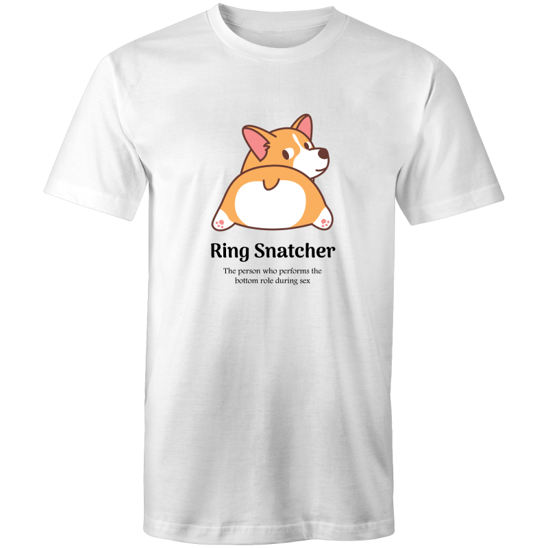 Gay T-Shirt | Dicktionary Ring Snatcher Male - RainbowRoo