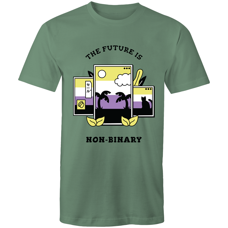 The Future is Non Binary Screens T-Shirts Unisex (NB010)