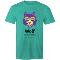 Gay T-Shirt | Dicktionary Wolf Male - RainbowRoo