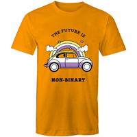 Non-Binary T-Shirt | The Future is Non-Binary Car Unisex - RainbowRoo
