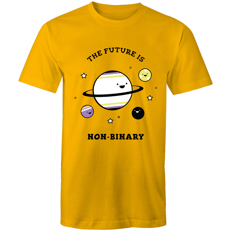 Non-Binary T-Shirt | The Future is Non-Binary Planets Unisex - RainbowRoo