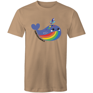 #Homosexuwhale Whale 2 T-Shirt Unisex - RainbowRoo