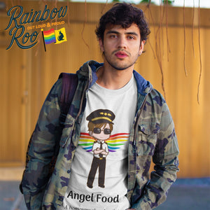 Gay T-Shirt | Dicktionary Angel Food Male - RainbowRoo