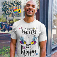 #BiHappy T-Shirt Unisex - RainbowRoo