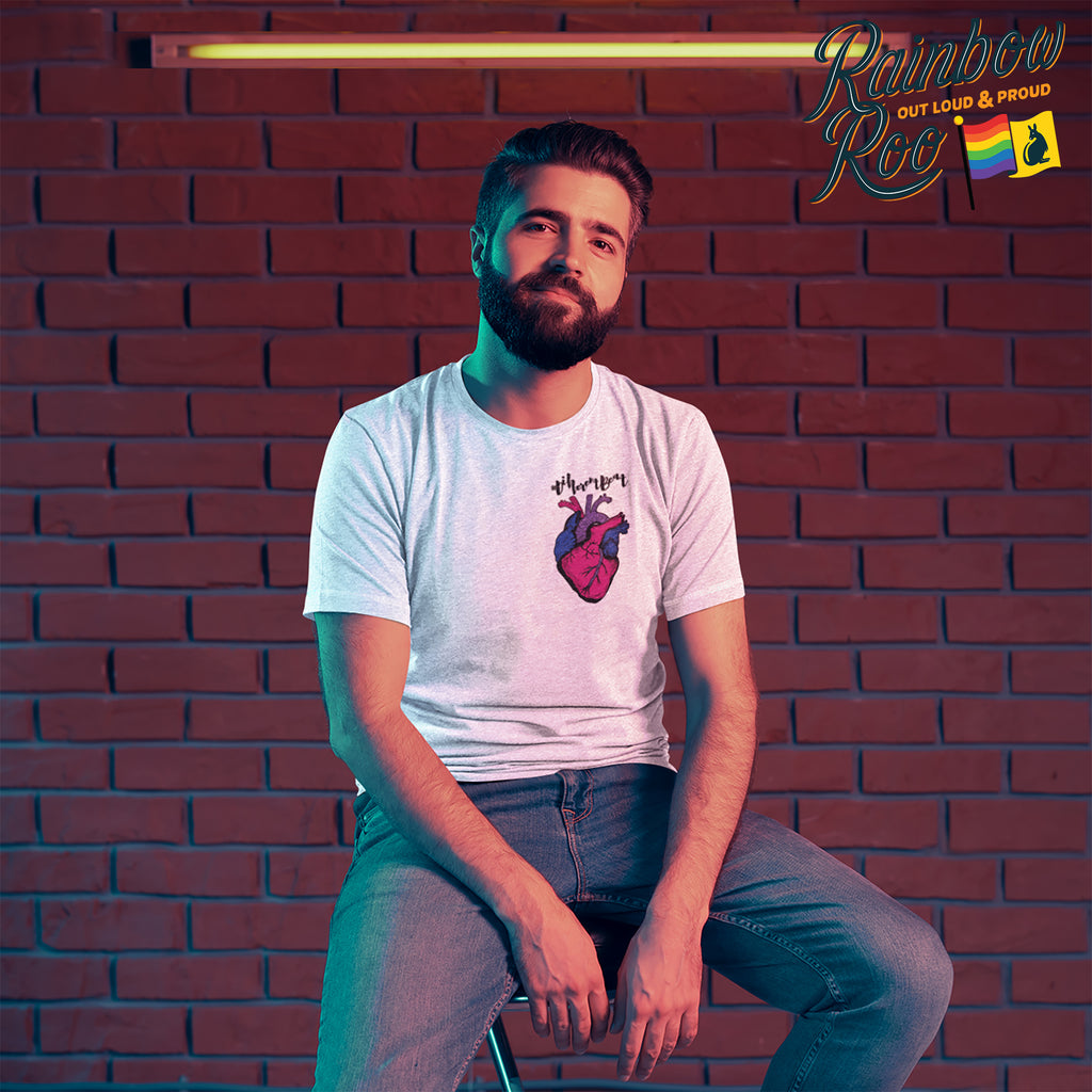 Bisexual T-Shirt | #DifferentBeat Unisex - RainbowRoo