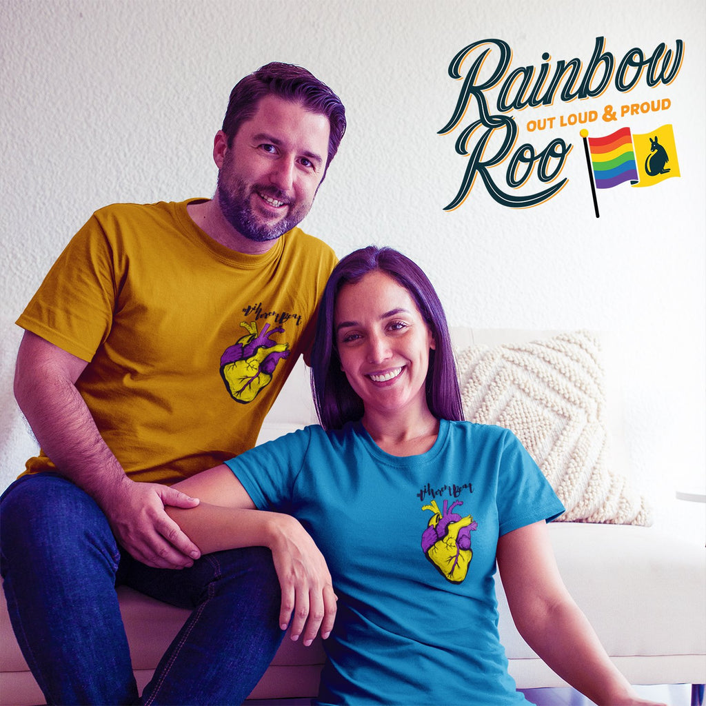 #DifferentBeat Intersex Flag Color T-Shirt Unisex - RainbowRoo