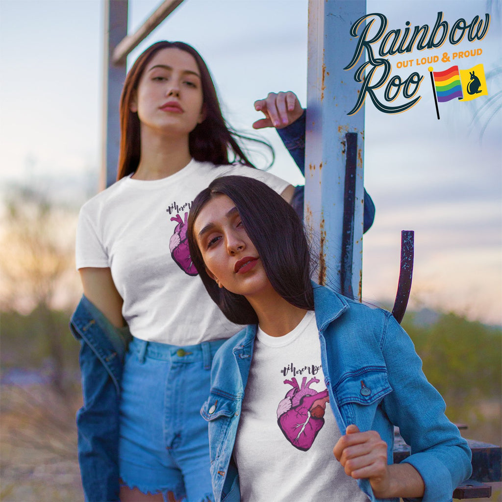 #DifferentBeat Lesbian Flag Color T-Shirt Unisex - RainbowRoo