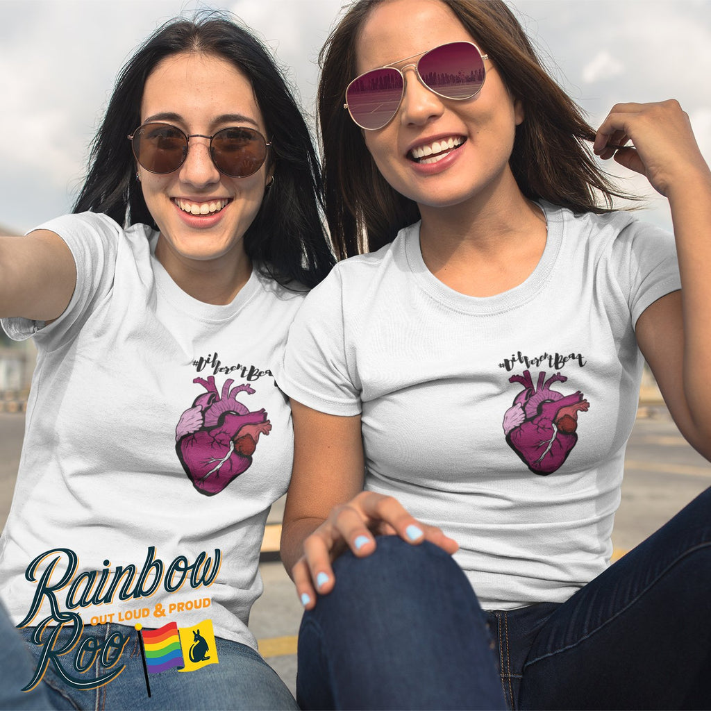 #DifferentBeat Lesbian Flag Color T-Shirt Female - RainbowRoo