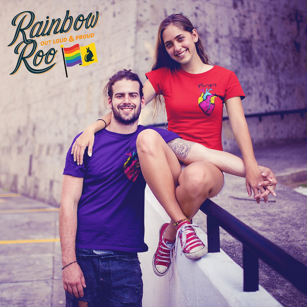 #DifferentBeat Pansexual Flag Color T-Shirt Unisex - RainbowRoo