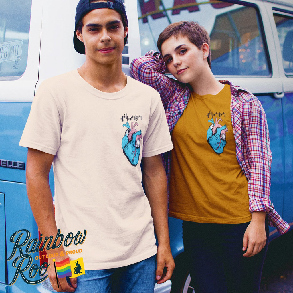Trans T-Shirt | #DifferentBeat Unisex - RainbowRoo