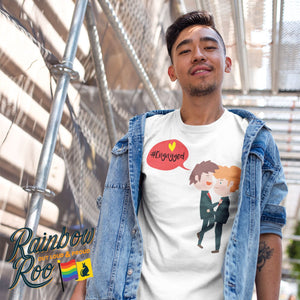 #Engayged T-Shirt Male - RainbowRoo
