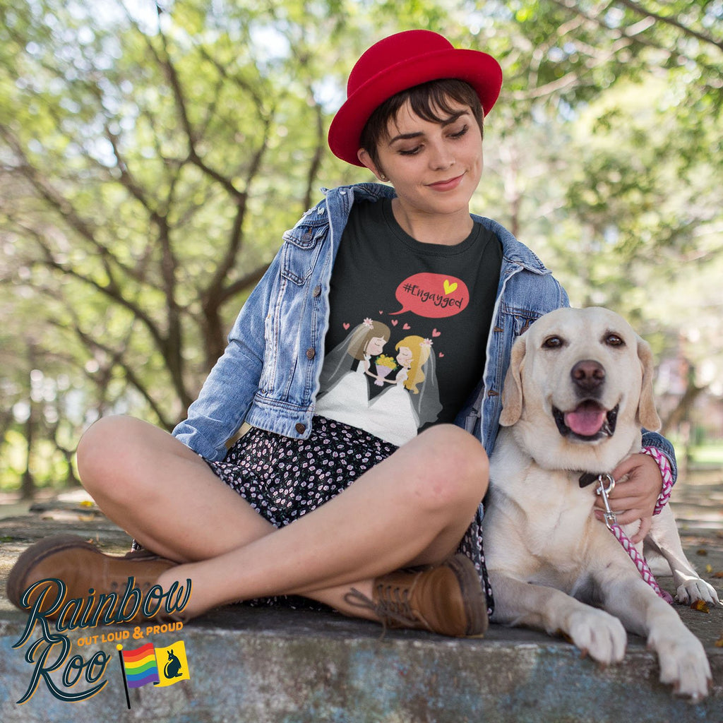 #Engayged T-Shirt Female - RainbowRoo