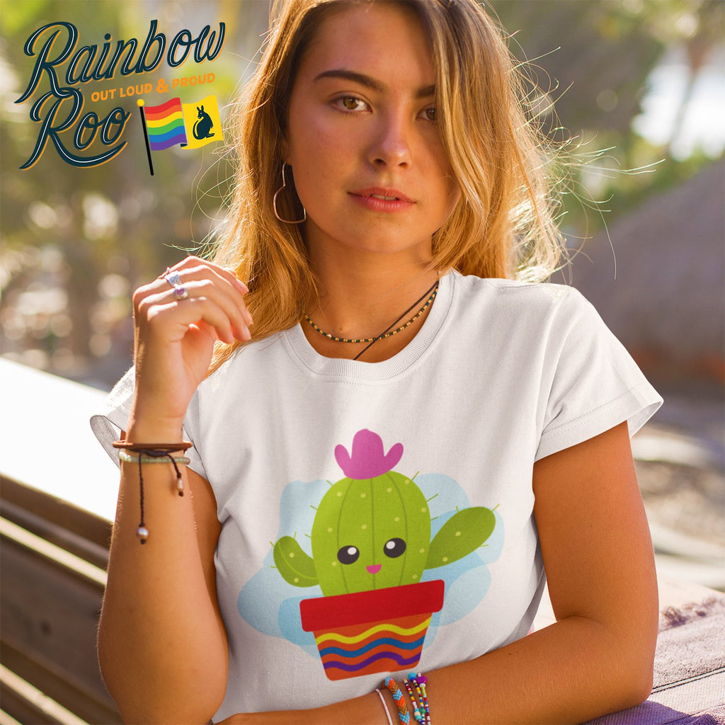 Dicktionary Gay Cactus T-Shirt Unisex - RainbowRoo