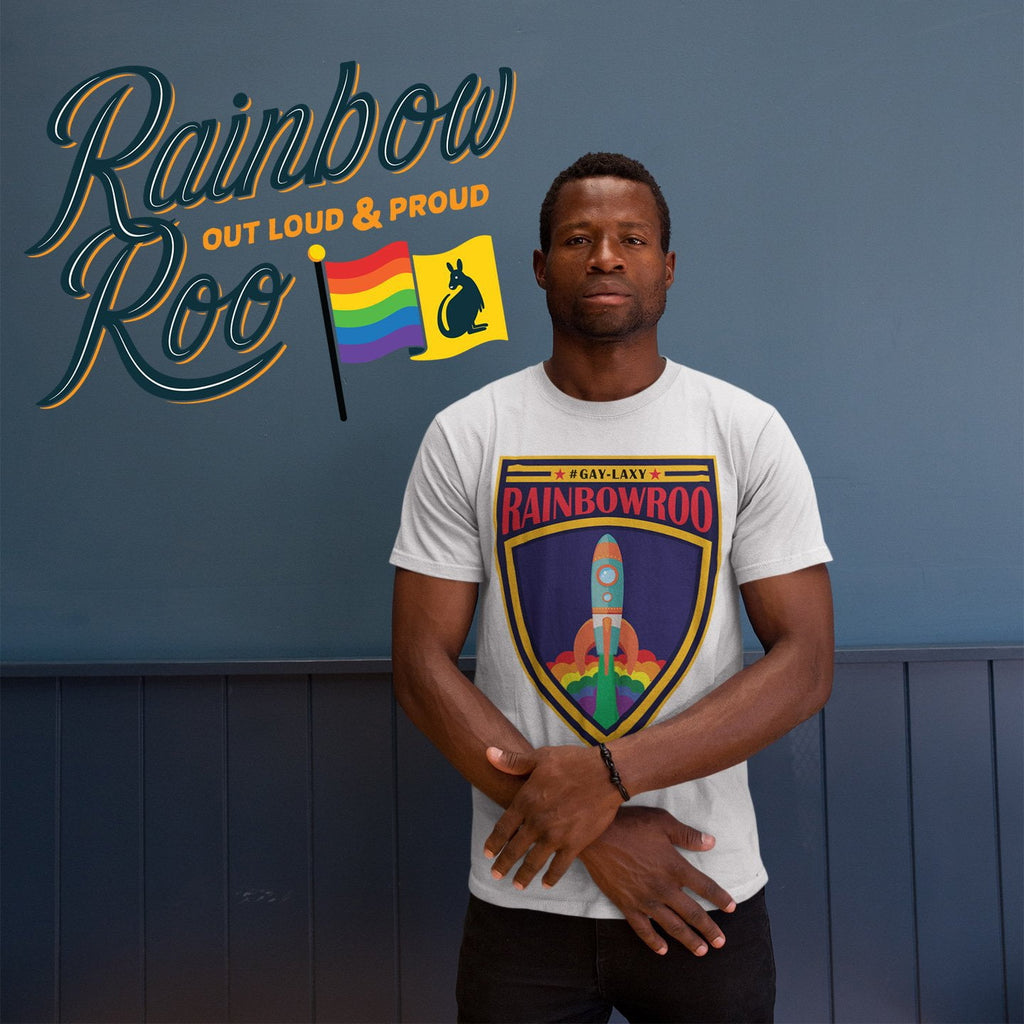 #Gaylaxy T-Shirt Male - RainbowRoo