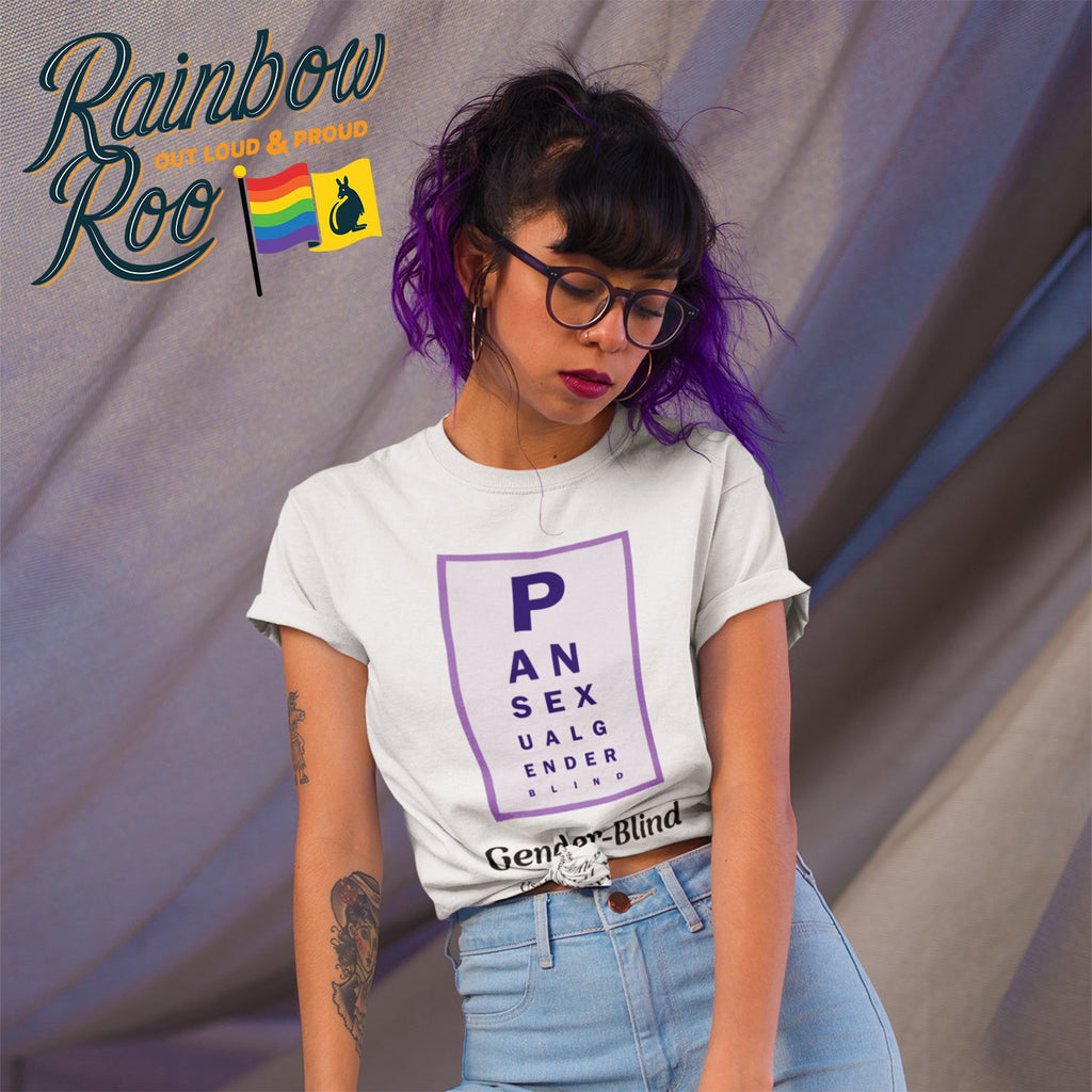 Pansexual T-Shirt | Dicktionary Gender Blind Unisex - RainbowRoo