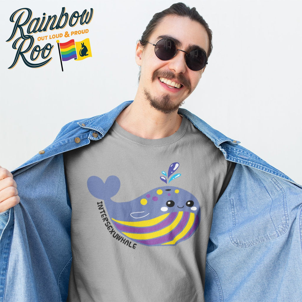 Intersex T-Shirt | #Intersexuwhale Unisex - RainbowRoo