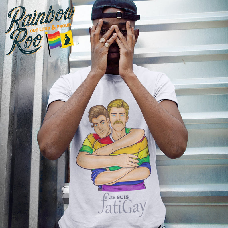 Gay T-Shirt | Je Suis Fatigay Male - RainbowRoo