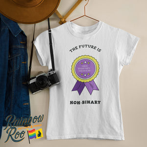 The Future is Non Binary Badge T-Shirt Unisex (NB004)