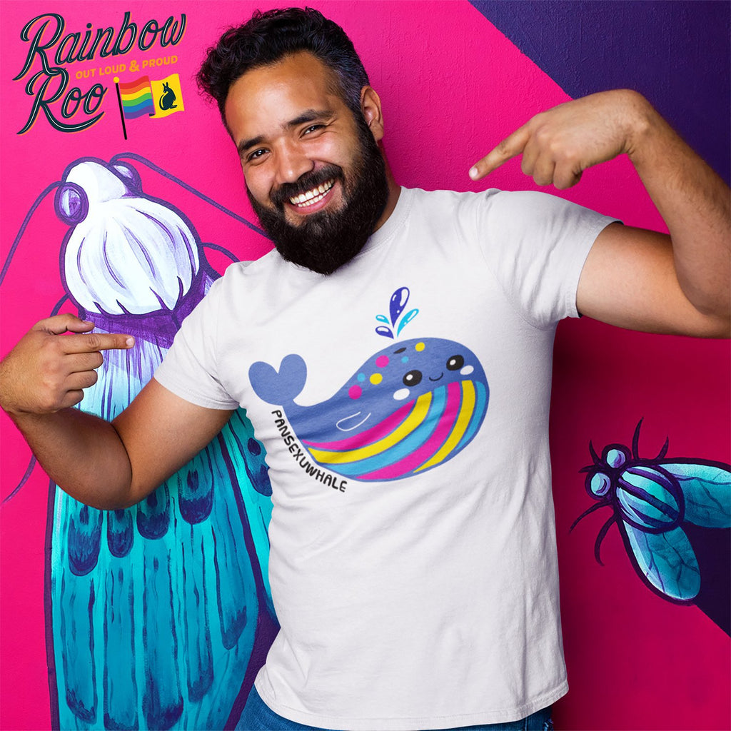 #Pansexuwhale Whale T-Shirt Unisex - RainbowRoo