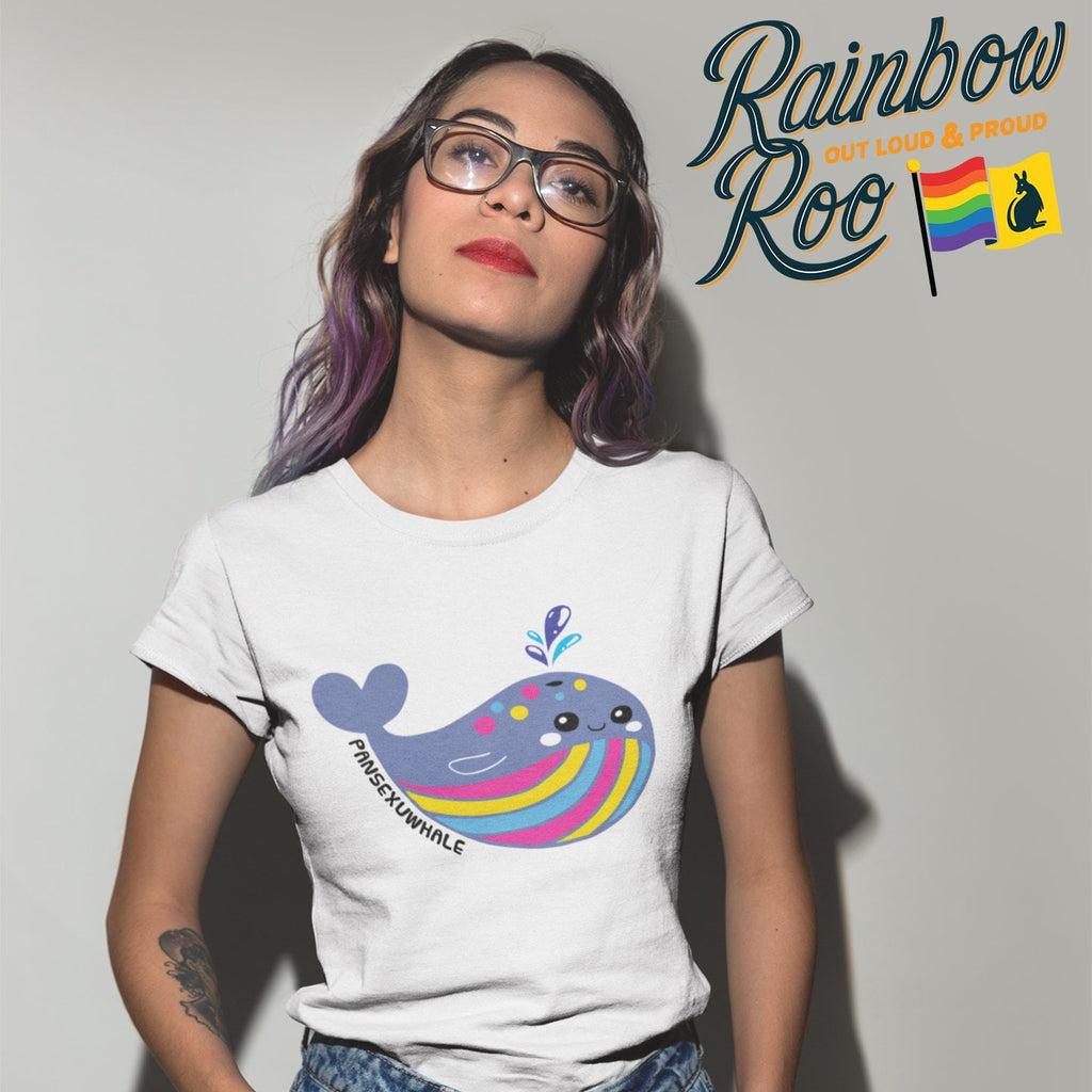 Pansexual T-Shirt | #Pansexuwhale Unisex - RainbowRoo