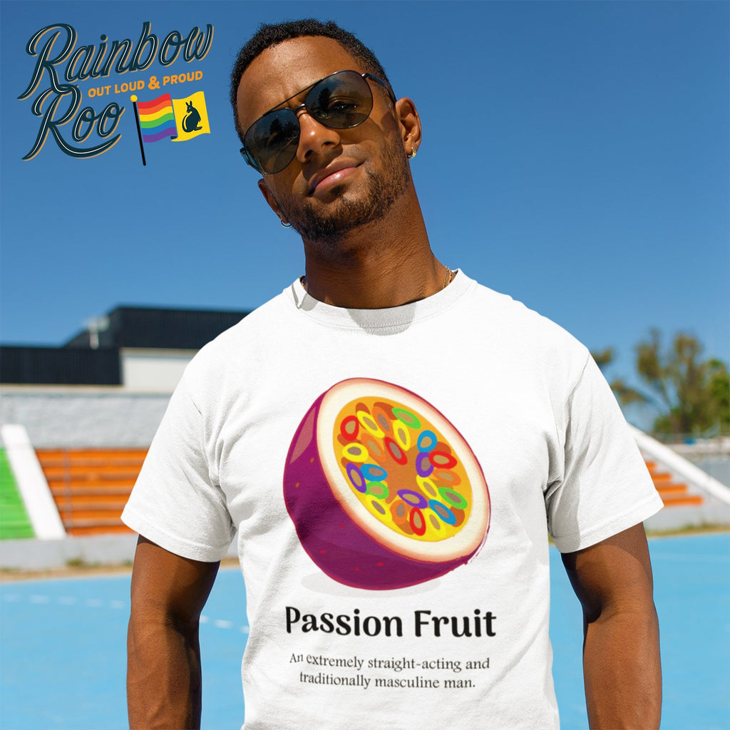 Gay T-Shirt | Dicktionary Passion Fruit Male - RainbowRoo