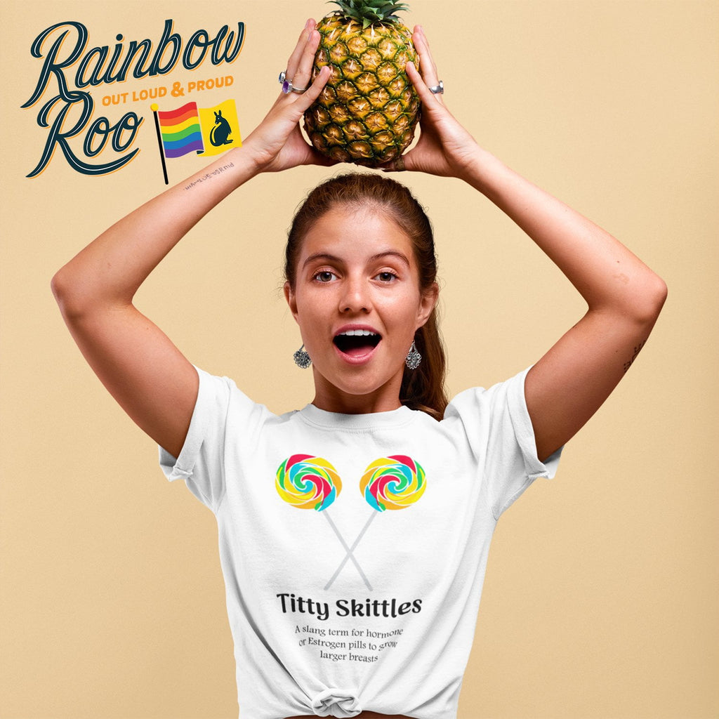 Trans T-Shirt | Dicktionary Titty Skittles Female - RainbowRoo