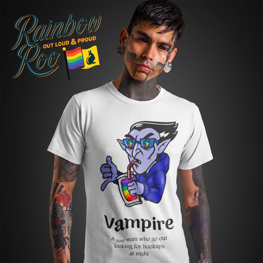 Gay T-Shirt | Dicktionary Vampire Male - RainbowRoo