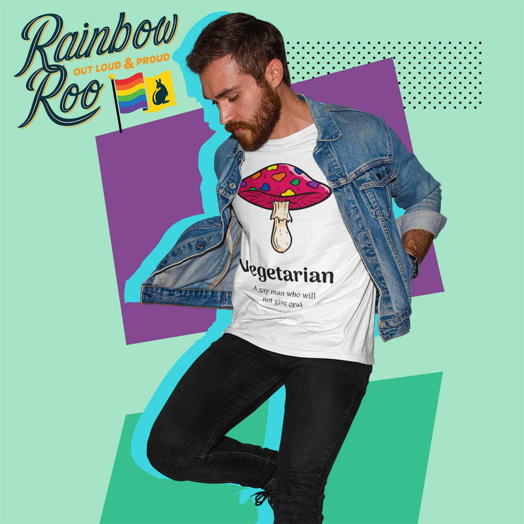 Gay T-Shirt | Dicktionary Vegetarian Male - RainbowRoo