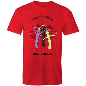 Non-Binary T-Shirt | The Future is Non-Binary Air Dancer Unisex - RainbowRoo