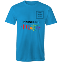 LGBT T-Shirt | #Pronouns Matter They Them Their Unisex - RainbowRoo