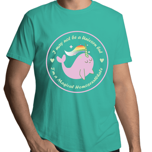 #Homosexuwhale Whale T-Shirt Male - RainbowRoo