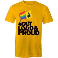 #OutLoud&Proud T-Shirt Unisex - RainbowRoo