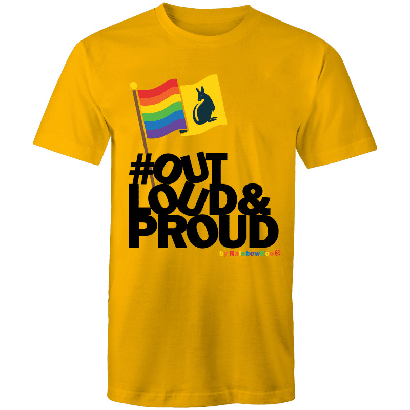 LGBT T-Shirt | #OutLoud&Proud Unisex - RainbowRoo