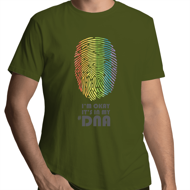 LGBT T-Shirt | I'm Okay It's In My #DNA Unisex - RainbowRoo