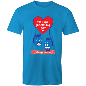 Gay T-Shirt | #BeMyValentine Perfect Pair Male - RainbowRoo
