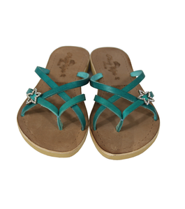 308ce67b72cf57 Roma in Turquoise - Star sandals with rhinestones – Princy Style