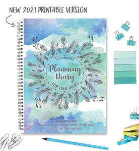 Planning Diary for Educators 2021 || PRINTABLE