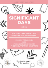 2021 Calendar of Significant Days || PRINTABLE