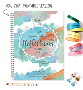 Personal Reflections Journal 2021 || PRINTABLE