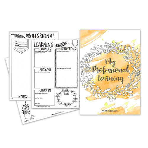 Professional Learning Notebook for Educators || PRINTABLE