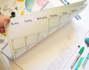 2018 Planning Calendar for Educators A3