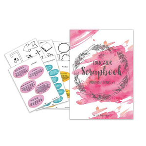 Educators Scrapbook Series #1 || PRINTABLE