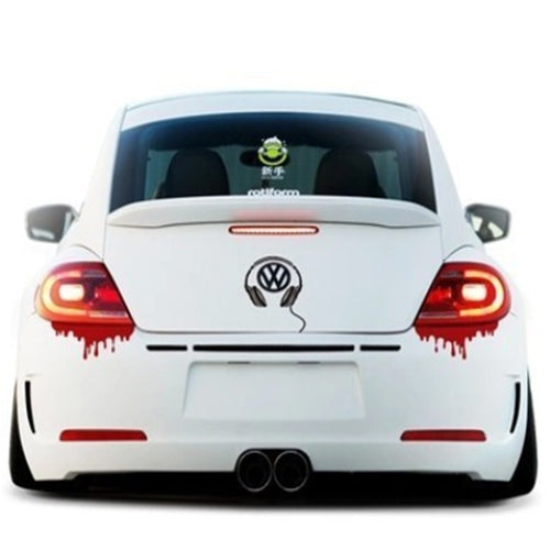 14*5cm Motorcycle Accessories Auto Tail Decor Vinyl Bloody Novelty Funny Car Stickers and Decals Car Styling