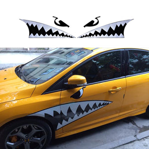 125cm*95cm Diy Car Styling accessories car body 3D Shark Mouth Waterproof decals sticker car scratch cover