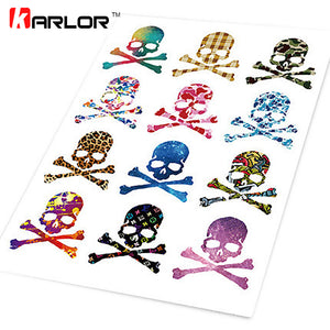 Color Skull Sugar Skull Collection Car Auto Motorcycle Decal Logo Set Sticker Cover Ipad Notebook Laptop Helm Handy Car-Styling